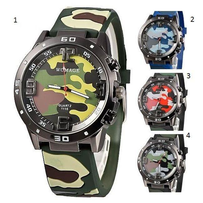 Moška vojaška ura v 4 barvah 1