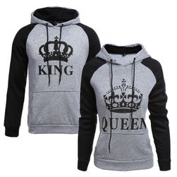 King Queen çift sweatshirt
