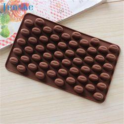 Formă de silicon pentru bomboane în formă de boabe de cafea