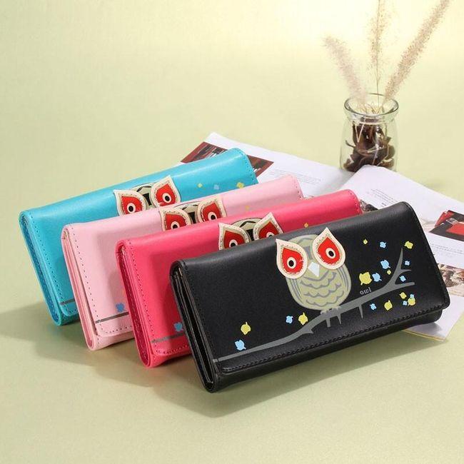 Női pénztárca vidám baglyokkal - 4 szín