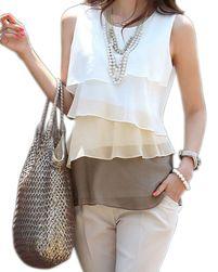 Ženska bluza bez rukava - boje