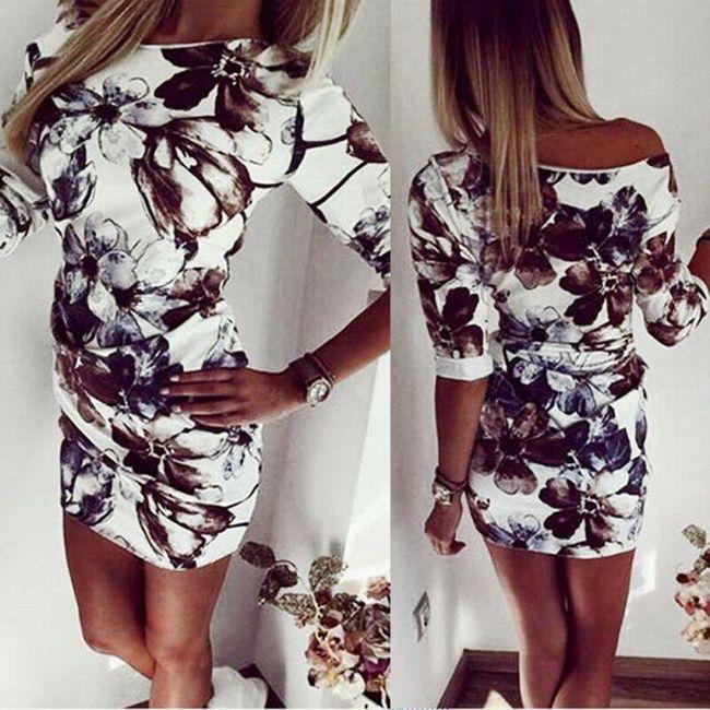 Elegantní dámské mini šaty - velikost 3 1