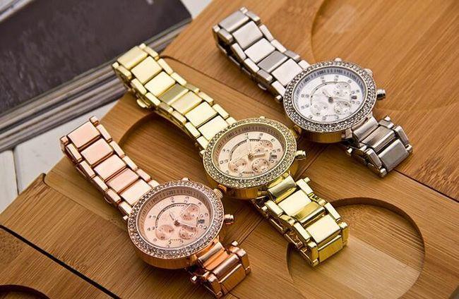 Geneva hodinky s kamínky ve třech barvách 1