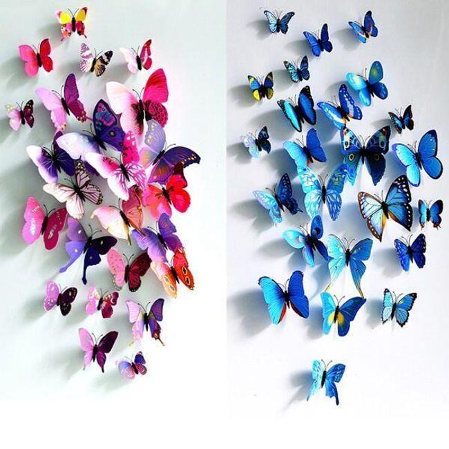 Mágnes 3D pillangó - 4 szín 1
