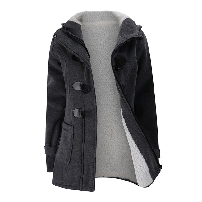 Dámská kabátová mikina Susana - Tmavě šedá - velikost XL 1