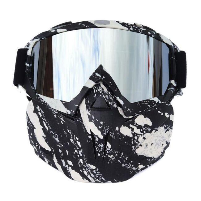 Narciarskie okulary z maską SG44 1
