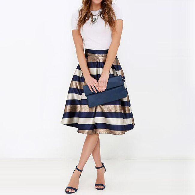 Áčková sukně s pruhy - velikost č. 5 1