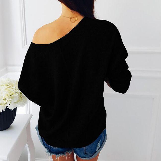 Női pulóver flitterzsebben - 2 szín