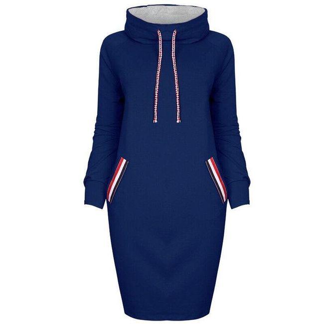 Ženska duks-haljina sa kapuljačom - 7 varijanti 1