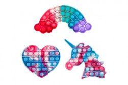 Bubble pops - pokanje mehurčkov barvita silikonska antistresna družabna igra 3 vrste v vrečki RM_00542759