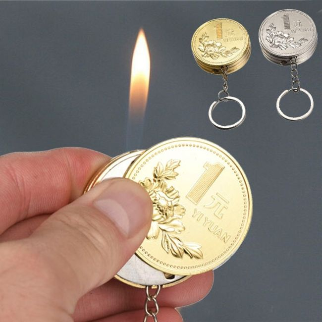 Брелок-зажигалка в виде монеты 1
