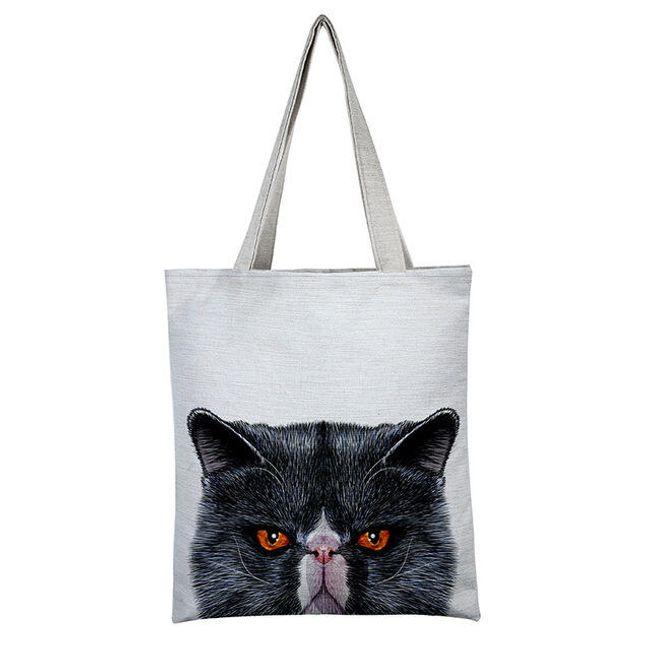 Nákupní taška s kočkou - více variant 1