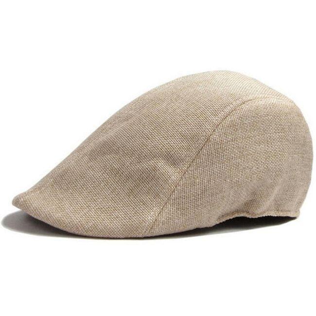 Moška enobarvna baretka 1