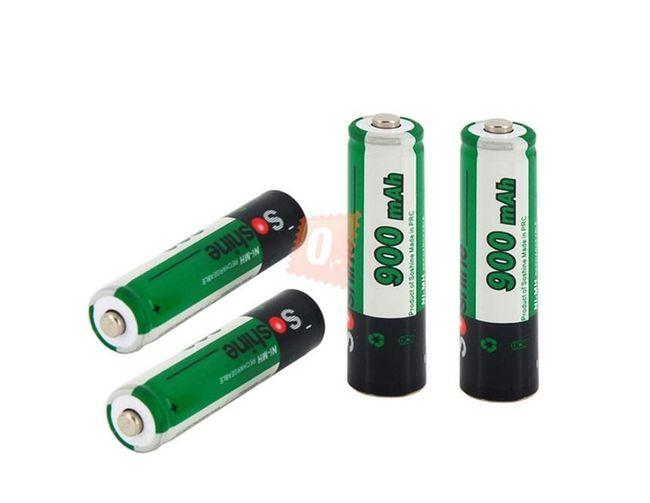 Nabíjecí mikrotužkové AAA baterie Soshine 900mAh Ni-MH - 4ks 1