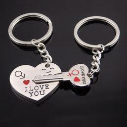 Romantikus medálok a pároknak - a szív és kulcs