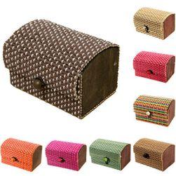 Casetă de bijuterii din bambus - diverse culori