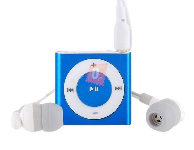 Praktický MP3 přehrávač, paměť 2GB - 5 barev 1