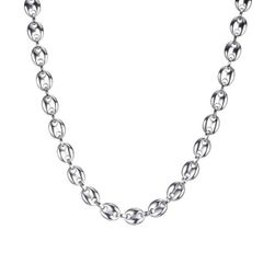 Moška ogrlica B08039 Srebrna