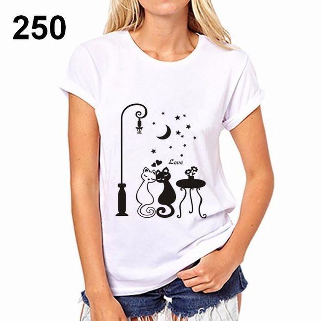 Dámské tričko s motivy kočiček - 250, velikost 3 1
