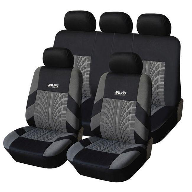 Uniwersalne pokrowce na siedzenia samochodowe z wzorem opony 1