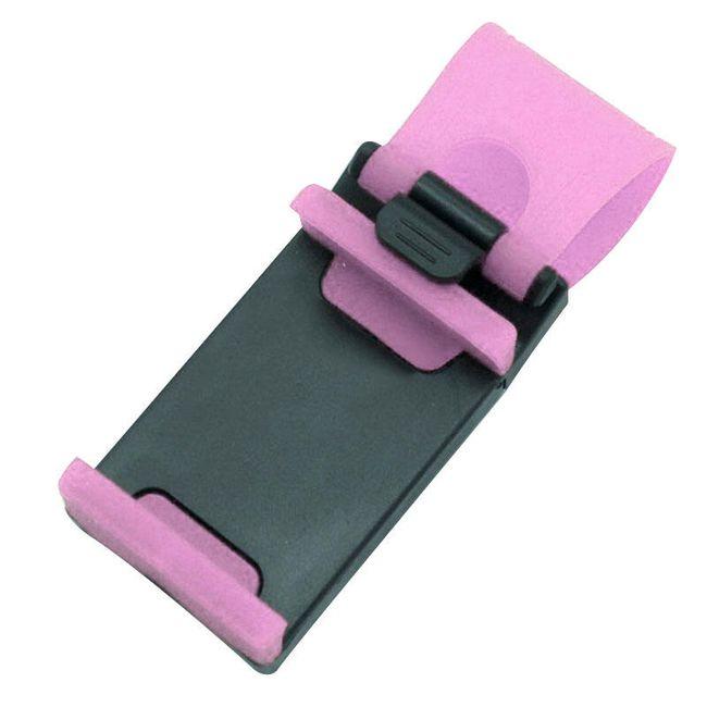 Flexibilní držák na mobilní telefon či GPS - Růžová 1