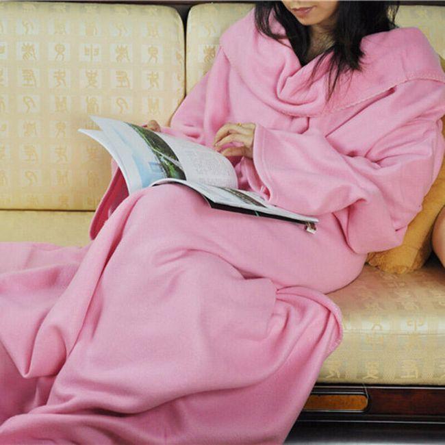 Teplá deka s rukávy - 4 barvy 1