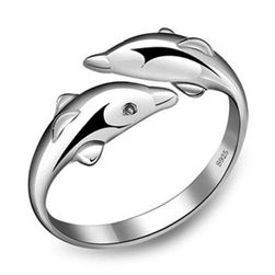 Podesivi prsten sa delfinima