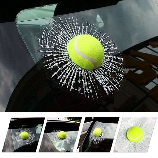 Araba 3D tenis topu sticker 1
