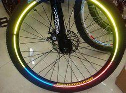 Fluorescentne nalepnice za okvire točkova - 6 boja