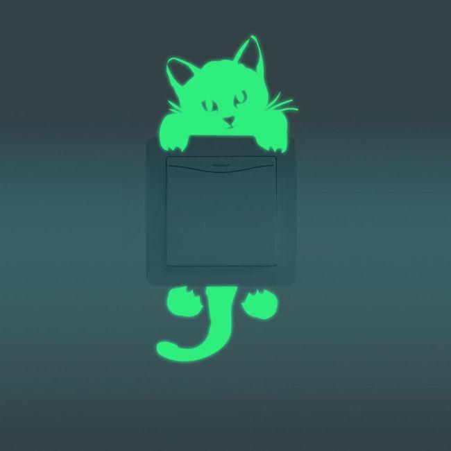 Auotadeziv luminos pentru întrerupător - pisică 1