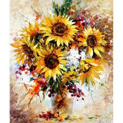 DIY obraz podle čísel - slunečnice