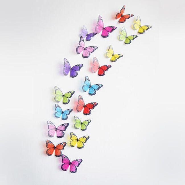 Veliki set 3D ukrasnih leptira - 18 komada 1