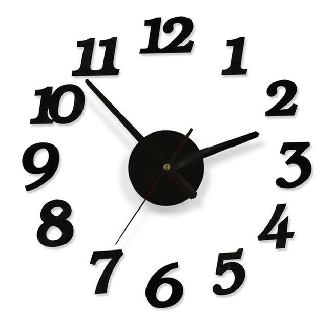 Zidni sat crne boje - 3D 1