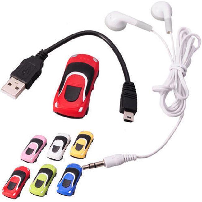 Мини MP3 плейър във формата на кола - повече цветове 1
