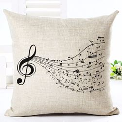 Povlak na polštář s hudebními motivy