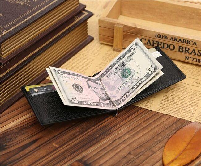 Férfi elegáns pénztárca klippel