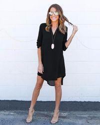 Mini sukienka koszulowa - 5 kolorów