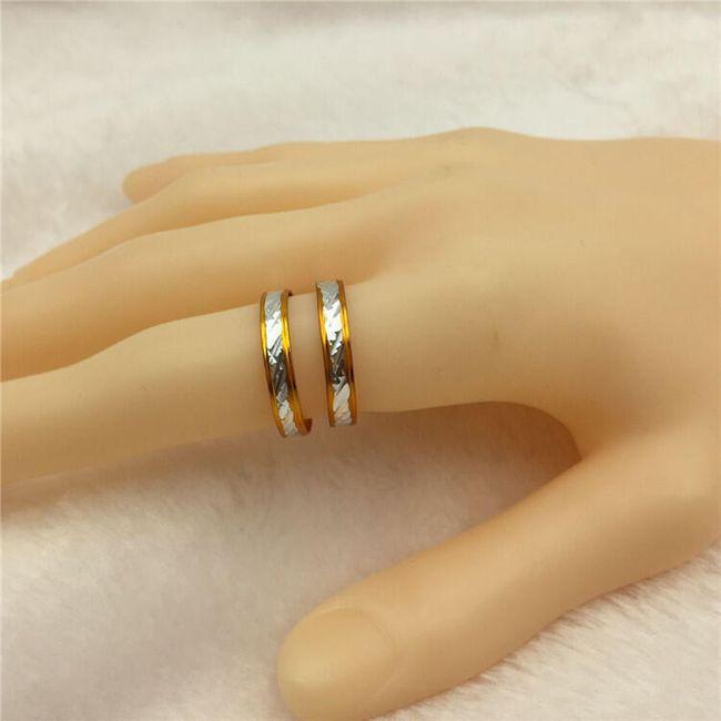 Kovinski prstan z nežnim okrasom - 2 kosa 1