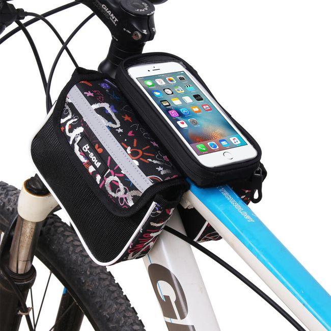 Obostrana torbica za bicikl sa prorezom za telefon 1