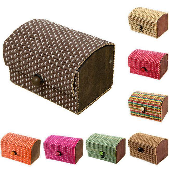 Kutija za nakit od bambusa - više boja 1