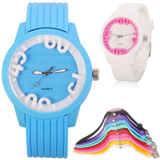 Barevné silikonové hodinky - v 9 barevných provedeních 1