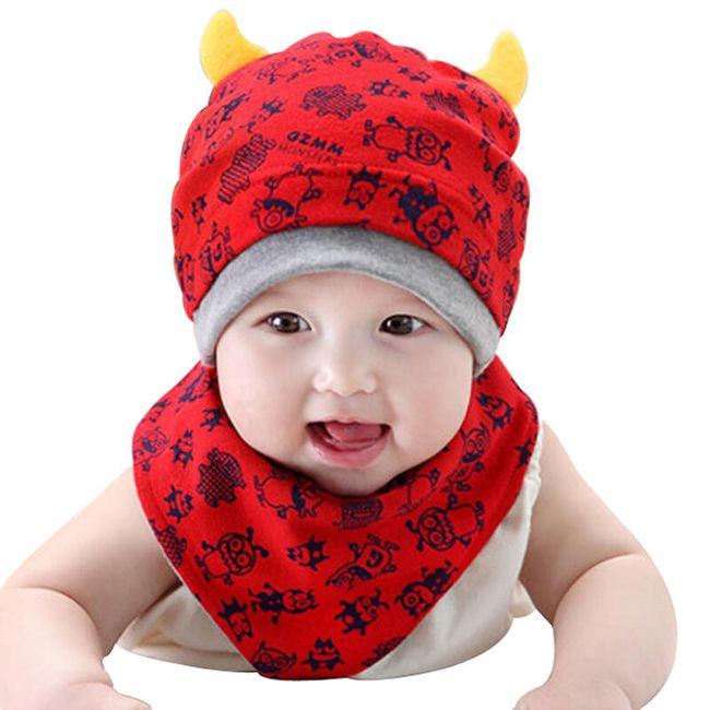 Čepice a šátek pro děti 1
