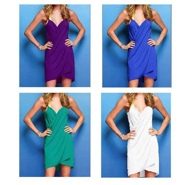 Damska plażowa zawijana sukienka  1