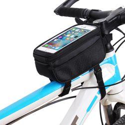 Torba na ramę roweru z przezroczystym okienkiem na telefon - 4 kolory