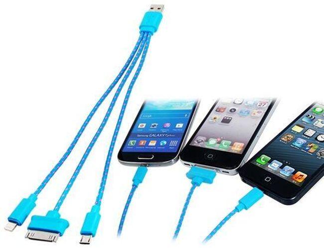 Ładujący USB kabel 3w1 - kilka kolorów 1