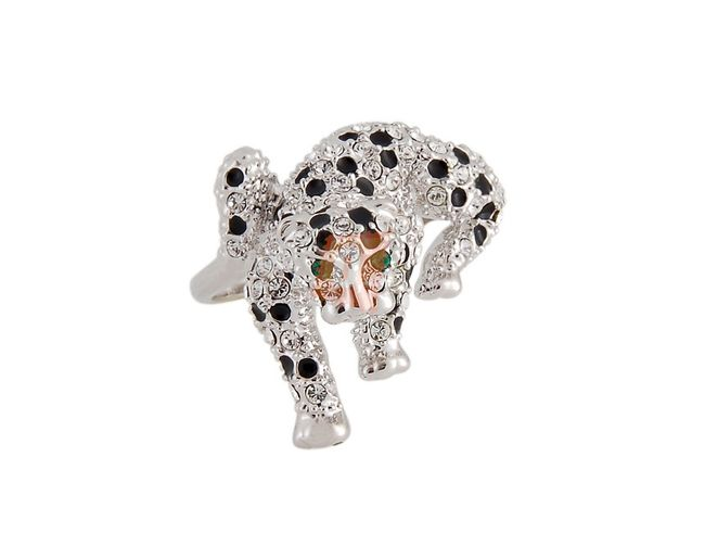 Prstýnek s gepardem - stříbrná barva 1