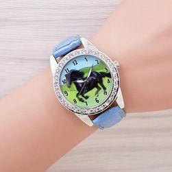 Dziewczęcy zegarek z koniem - 7 kolorów