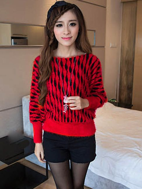 Dámský svetr s netopýřími rukávy - ve 2 barvách 1