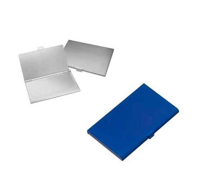 Metalowy wizytkownik - niebieski 1