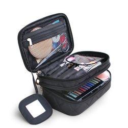 Двухэтажная косметическая сумка - 4 цвета